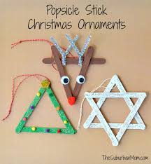3 popsicle stick ornaments craft thesuburbanmom