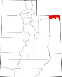 Utah County Map File Map Of Utah Highlighting Daggett County Svg Wikimedia Commons
