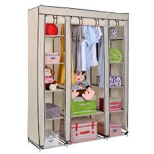 Shelf With Clothes Rod Portable Closet With Shelves Roselawnlutheran