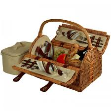 picnic basket for 2 at ascot sussex picnic basket for 2 wicker santa stripe