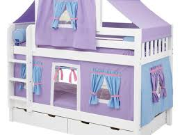 Tents For Kids Room by Ideas Alluring Pure White Finish Mahogany Wood Bunk Beds With
