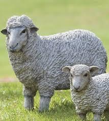 plow hearth sheep lawn statue reviews wayfair