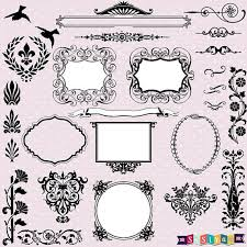 new design vintage ornament frame decor design elements wedding