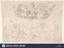 designs for ornamental motifs with figures real and imaginary stock
