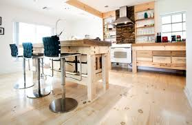 wide pine floors contemporary kitchen miami by hull forest