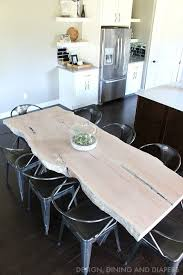 Living Edge Dining Table Best 25 Live Edge Table Ideas On Pinterest Slab Table Wood