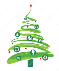 ecology and recycling christmas vector background u2014 stock vector