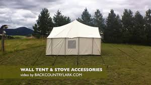 Wall Tent by Canvas Tent Accessories Youtube