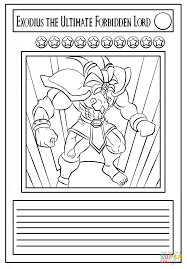 yu gi oh card coloring page free printable coloring pages