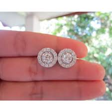 illusion earrings diamond 6 00 carat illusion diamond white gold detachable earrings