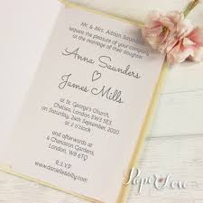 printed wedding invitations pearlescent flower and names laser cut personalised wedding
