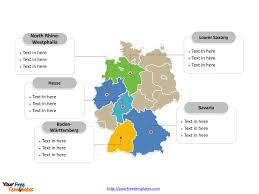 Bavaria Germany Map by Free Germany Powerpoint Map Free Powerpoint Templates