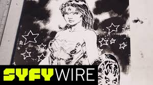 wonder woman sketch by dc comics co publisher and artist jim lee