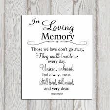 wedding quotes printable in loving memory printable memorial table wedding by dorindaart
