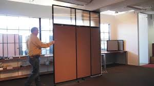 the tall wall sliding wall mounted room divider by versare youtube