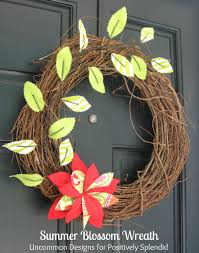 summer blossom wreath positively splendid crafts sewing thanks so much amy for having us here again this month we hope you all are having a great summer please stop by and visit us at uncommon