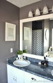 How To Make A Bathroom Mirror Frame To Frame Out That Builder Basic Bathroom Mirror For 20 Or Less