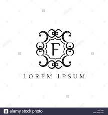 luxury vector logo design template of letter f stock vector art