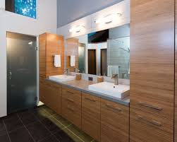 modern master bathroom with european cabinets by schock