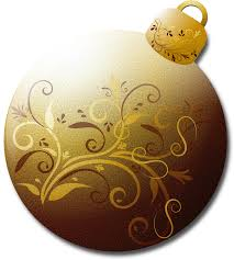 clipart gold glass ornament 1