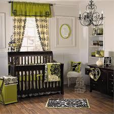 interior luxury white baby nursery with tan wooden floor feature