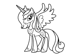 my little pony princess luna coloring pages for kids and for