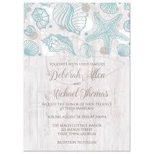 wooden wedding invitations invitations seashell whitewashed wood