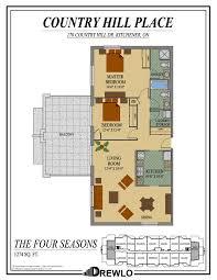 four seasons park floor plan country hill place kitchener ontario drewlo holdings drewlo