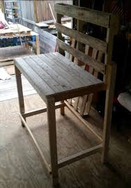 bench bench made of pallets diy pallet bench and side table