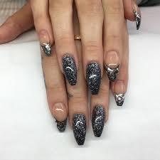 22 silver glitter nail designs 60 glitter nail art designs art