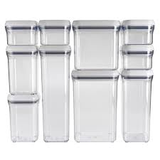 clear plastic kitchen canisters 10 pop container set oxo