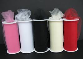 spools of tulle wrap for you january 2012
