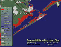 Map Of Galveston Rising Seas Could Swamp Some Texas Cities By 2100 The Texas Observer