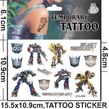 transformers pig spider man frozen anime cartoon tattoo stickers