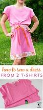 how to sew a summer sundress from two t shirts