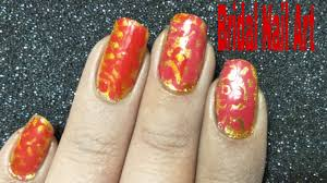 red and gold nail art design bridal nail art design easy red