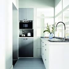 mini kitchen design ideas chrome teapot microwaves minimalist kitchen design white compact