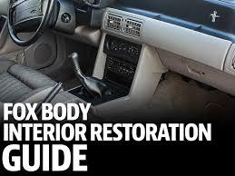 fox mustang interior restoration fox mustang restoration interior guide lmr com