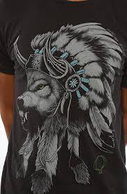 rook t shirt wolf headdress in black karmaloop com