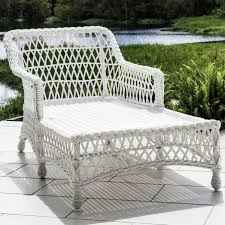 Vinyl Wicker Patio Furniture - everglades white resin wicker patio chaise lounge by lakeview