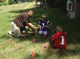 Football Field In Backyard How To Build A Ladder Drill And Finish A Football Field How Tos