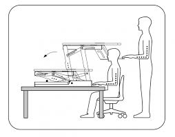 using a sit stand desk boost your health with the adjustable sit stand desk workstation for