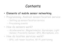 magnetometer android 모바일 센서 네트워킹 소개 및 최근 연구 동향 이의진 kaist 지식