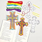 Christian Easter Decorations To Make by Amazon Com Cross Stand Up Suncatchers For Children To Color In