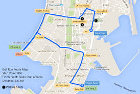 Map Run Route by Bse Bull Run 2017 Zee Business