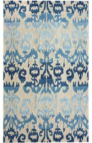 Blue Contemporary Rugs Area Rug Neat Modern Rugs Oval Rugs On Blue Ikat Rug