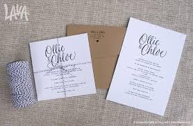 Letterpress Invitations Black And White Letterpress Invitation With Twine Wedding