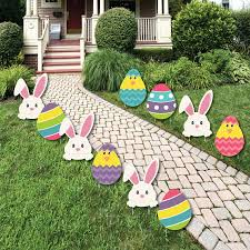 outdoor easter decorations easter bunny egg yard decorations outdoor easter lawn