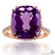 rose color rings images 20k rose gold rich color 8 65 ct purple rose cut amethyst ring jpg