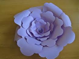 Wall Flower Decor by Set Of 3 Lilac Paper Roses Big Paper Flower Purple Paper Flowers